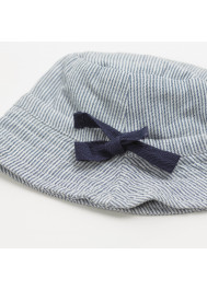 Blue striped baby's hat