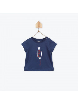 Navy blue Arsène baby boy's T-shirt