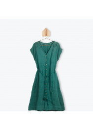 Woman's green dress