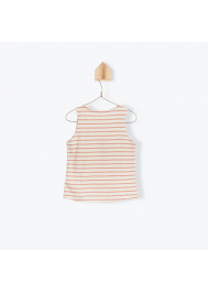 Terracota jersey striped girl's T-shirt