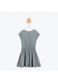 Grey printed girl's dress
