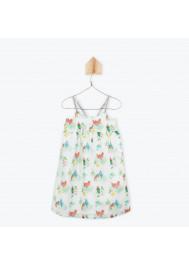 Parrots printed girl's dress