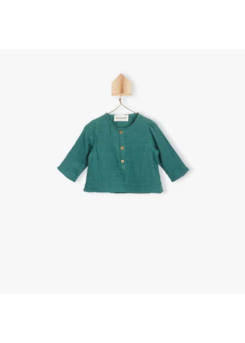 Green double voile baby's tunic