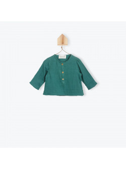 Peacock green double voile baby's tunic