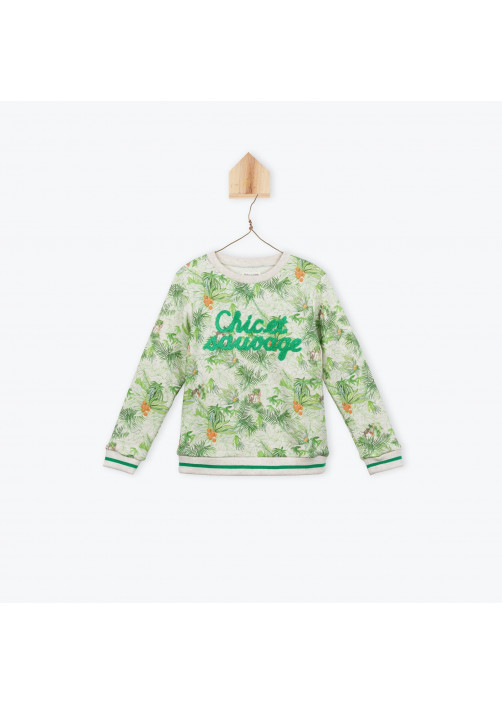 Jungle printed fleece sweatshirt
