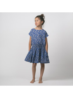 Medusa printed smocked girl's dress