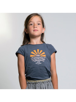 Anthracite grey girl's T-shirt