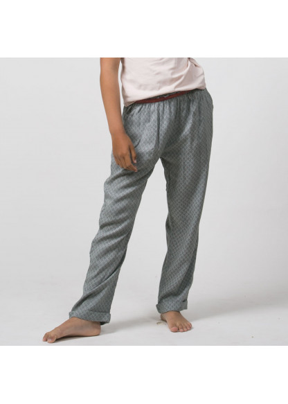 Grey printed girl's pants