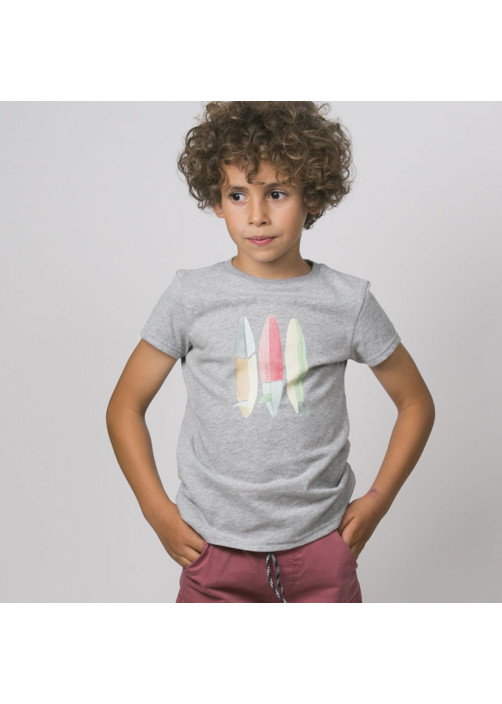 Grey surf boards boy's T-shirt