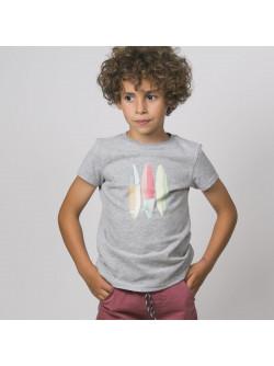 T-shirt garçon gris Surf boards