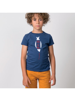 Navy blue Arsène boy's T-shirt