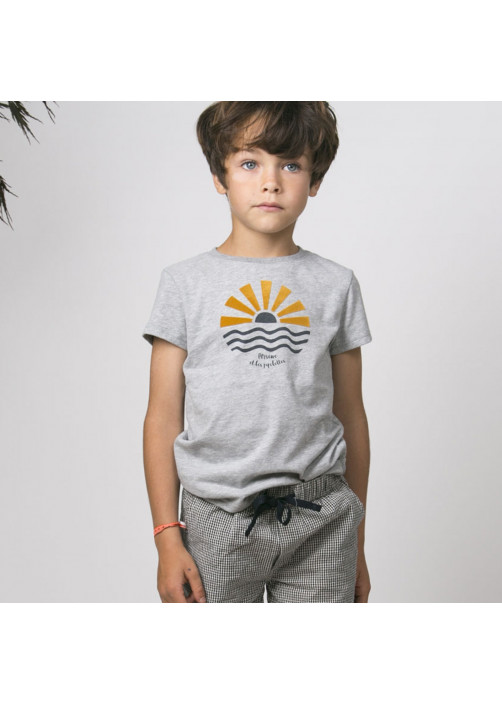 Heather grey boy's T-shirt