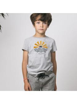 T-shirt garçon gris chiné Soleil