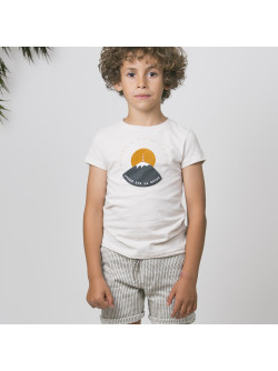 Off-white printed boy's T-shirt