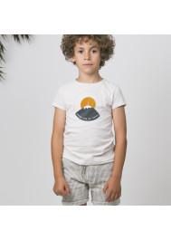 T-shirt garçon écru Rhune
