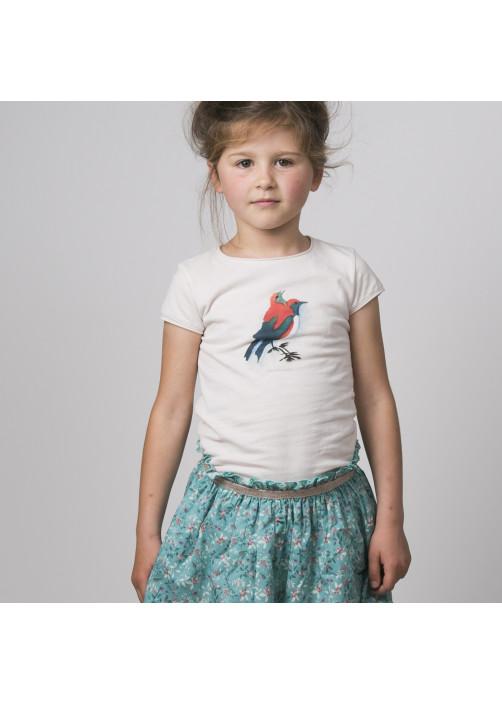 T-shirt fille écru Canaris