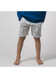 Fish printed fleece boy's bermuda