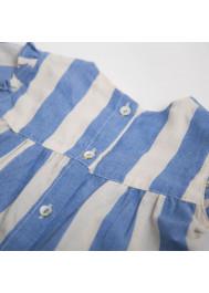 Blue big stripes baby's blouse