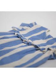 Blue big stripes girl's blouse