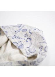 Sweat à capuche bébé molleton imprimé poissons