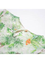 Jungle printed fleece girl's dress