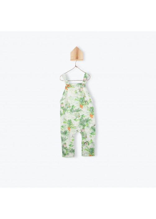 Jungle printed baby's jumpsuits