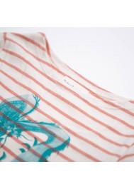 Red striped jersey boy's T-shirt