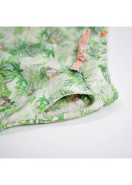Jungle printed fleece boy's bermuda