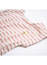 Robe jersey rayé brique
