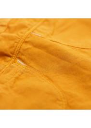 Pantalon bébé coton et lin caramel