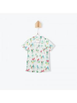 Parrots printed shirt