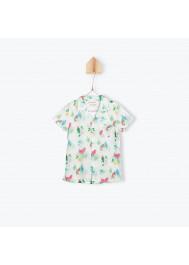 Parrots printed baby boy's shirt
