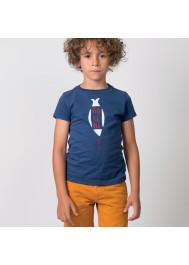 Navy blue Arsène baby boy's T-shirt