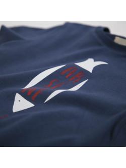 Navy blue Arsène boy's T-shirt